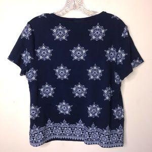 Karen Scott Tops - Karen Scott | Shiort Sleeve Shirt